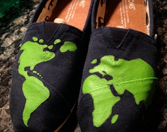World Map Painted Toms
