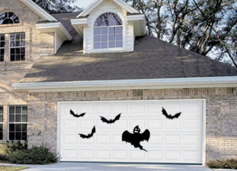 Diy halloween garage door decorations - Halloween Garage Door Decor Haunted House Removable Wall Decal Stickers Bats And Ghost Zoom