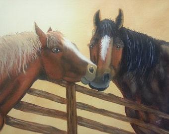 HORSES SHARING a SECRET