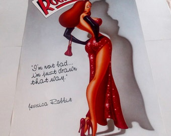 JESSICA RABBIT POSTER From 1988, Who Framed Roger Rabbit, Vintage And Rare!!