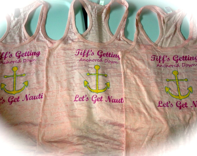 7 Nautical Bridesmaid Tank Tops / Bride / Bridesmaid / Bachelorette Party / Custom Bride to Be Shirt / Beach Bride Tank Top / weddings