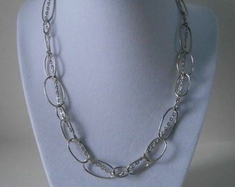 Double Chain Necklace - Double Woven Chain Necklace