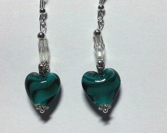 """Earrings """"Green Hearts 2"""""""