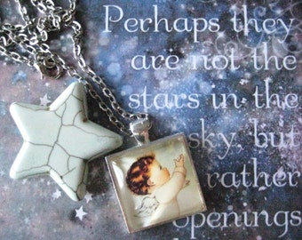 Perhaps They Are Not Stars Angel Necklace, infant loss, child loss, baby loss keepsakes, miscarriage, stillborn, child loss jewelry,handmade