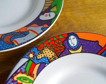 1991 Vitromaster Metropollitan Pop Art Saucer Plates - Set of 3