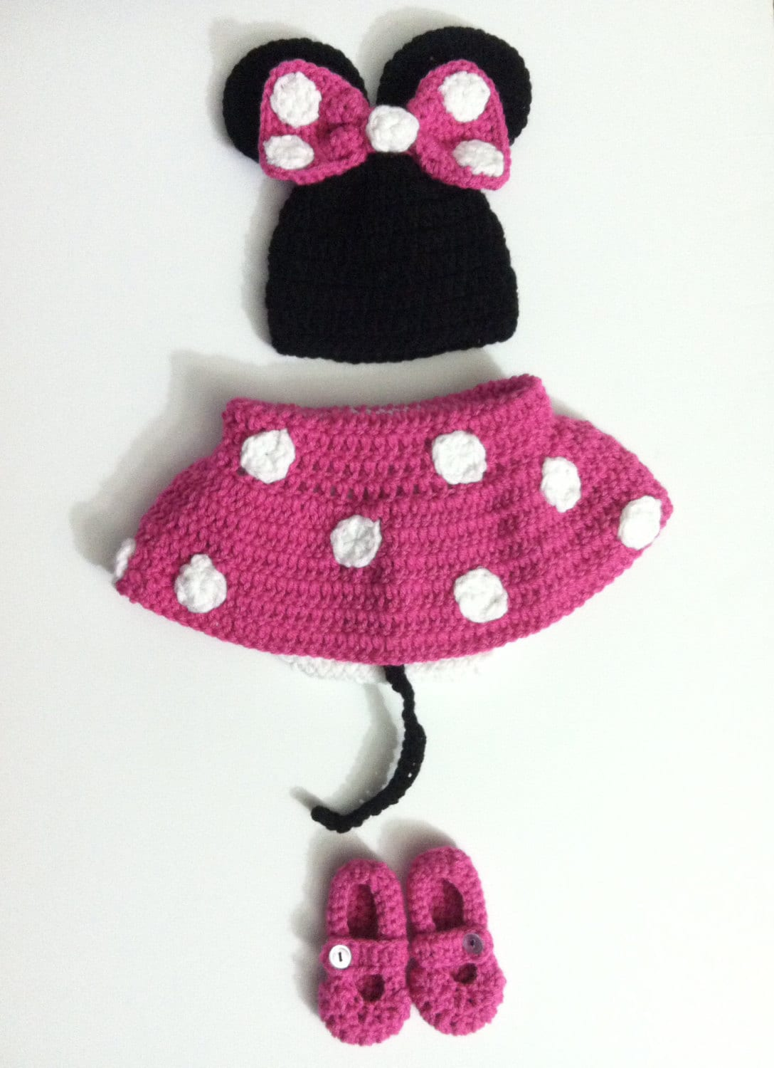 crochet minnie mouse baby costume. Black Bedroom Furniture Sets. Home Design Ideas