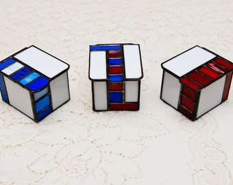 Stained Glass Political Boxes (set of 3)