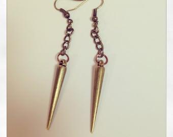 Bronze Spiked Earrings