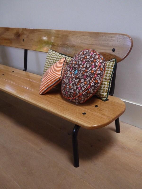 banc d 39 colier vintage en ch ne par thibautlamant sur etsy. Black Bedroom Furniture Sets. Home Design Ideas