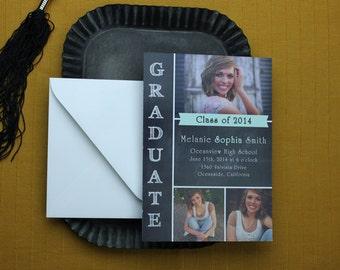 Chalkboard Graduation Announcement