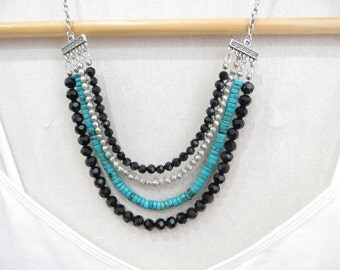Catalina Multi-strand Statement Necklace