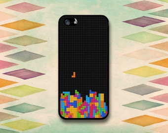 80s Throwback Tetris Inspired Case: iPhone 4 // 4s, 5c or 5 // 5s