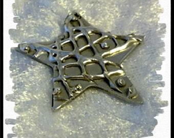 Star Burst - Fine Silver Pendant
