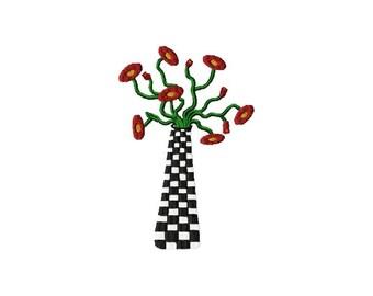 Poppy Vase Machine Embroidery Design