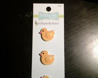 Babyville Boutique Buttons 3 Ducks