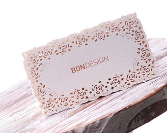 FREE Shipping 200 Customized Business Cards with Lace