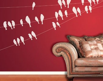Birds On Wire Wall Decal