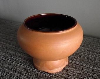 Frankoma #22 Terra Cotta Planter Pot with Matte Brushed Glaze