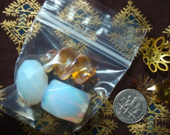 "200 Tiny 2x2""  Ziploc Baggies For Small Items & Beads.  2MIL Thick.  Little square Zip Bags.  USPS Ship Rates from Oregon"