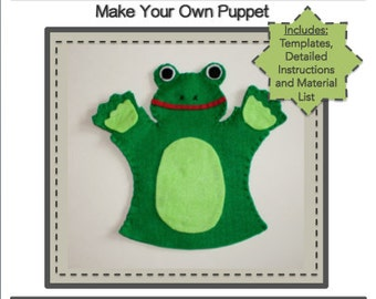 PDF Template Download - Frog Hand Puppet