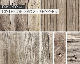 Natural wood digital papers, distressed wood background, old wooden papers, for scrapbooking, rustic, vintage,  wood digital paper, natural