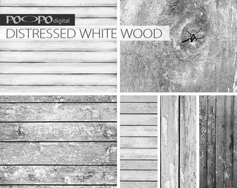 White wood digital paper, white, grey, black colors, wooden texture, distressed wood, white planks digital, wood grain, for scrapbooking