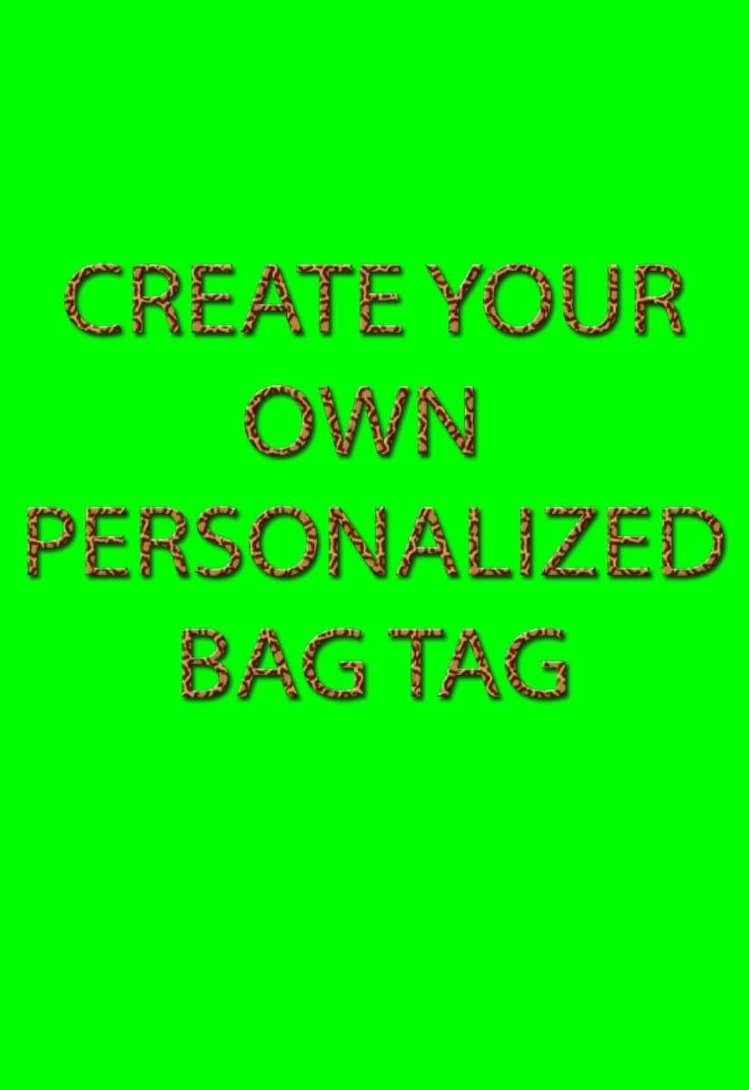 Create Your Own Gift Tags Cards And More Using Avery: Create Your Own Bag Tag Luggage Tag