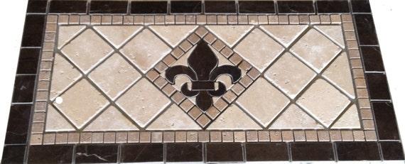 Items Similar To St Croix Brown Fleur Dis Lis Mosaic