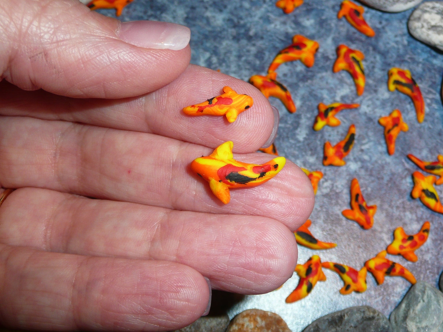 2 miniature koi fish or goldfish for crafts or by for Miniature koi fish