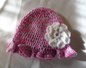 Childrens cloche style beanie hat