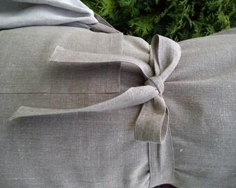 Natural Linen Apron -  Natural Gray Full Apron