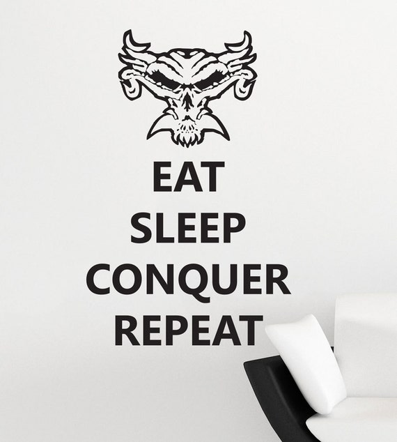 Brock Lesnar Logo Eat Sleep Conquer Repeat