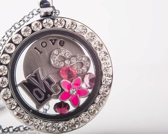 Personalized Floating Locket Necklace