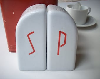Art Deco Salt and Pepper / simple retro style
