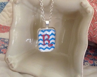 Chevron Pendant Necklace Personalized