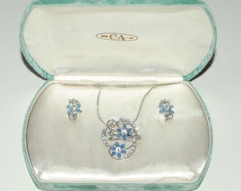 "Vintage ""CA"" Sterling Jewelry Set in Box 6028"