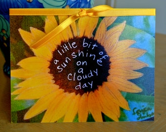 Encouragement Card. Get Well. Cope. Cheer. Sunshine - Handmade Inspirational Card - Be the Sunshine to someone today!