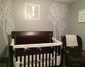 Nursery Bedding Bumperless Crib Bedding Teething Rail Guard Choose your fabrics