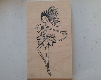 Ballerina Rubber Stamp - 147M05