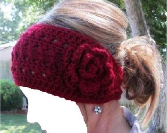 WIDE FLOWERED HEADBAND