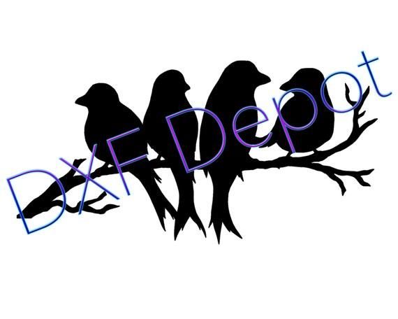 Format de dxf oiseaux perch cnc coupe fichier vector art - Dessin dxf gratuit ...