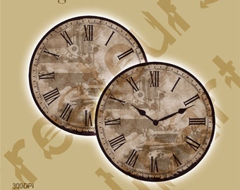 Vintage Elements CLOCK set /JPG/ PNG  For Personal and Commercial use/ Clip Art/ Instant Download