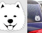 Samoyed Dog Sticker - Durable Vinyl Weatherproof Decal