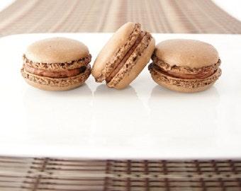 Dark Chocolate Macarons - one dozen