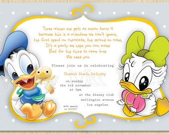 Mickey & Minnie Invitations for luxury invitation layout