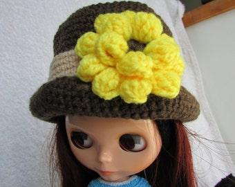 Blythe Bowler Style Dark Brown Crochet Hat