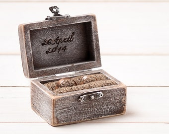 Wedding Ring Box Ring Pillow Ring Bearer Ring Holder Rustic