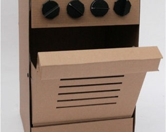 cardboard cooker for children's kitchen
