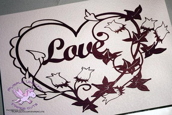 Papercutting Love