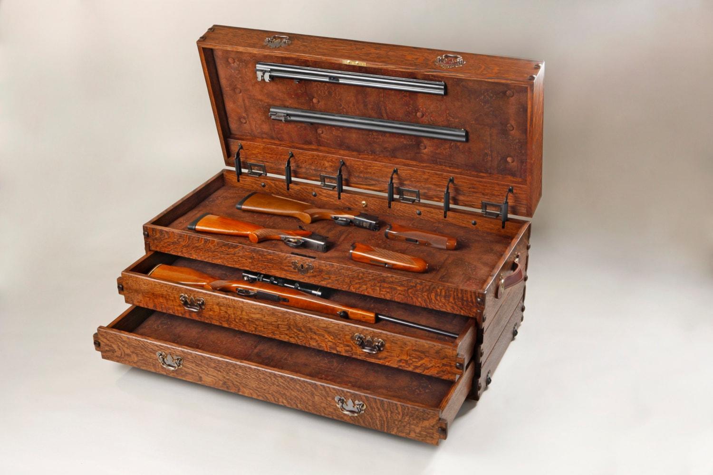 Gun Case Gun Case In Ostrich Top Bench